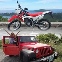 Book A Jeep or Scooter or Motorcycle in Saint Thomas USVI